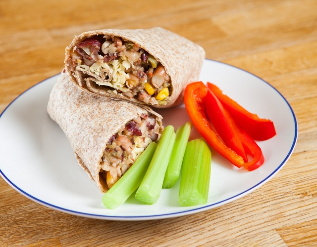 Bean and cheese wrap