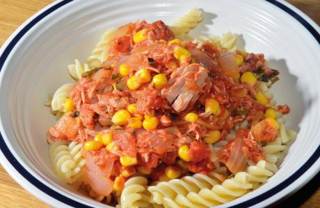tuna and sweetcorn pasta