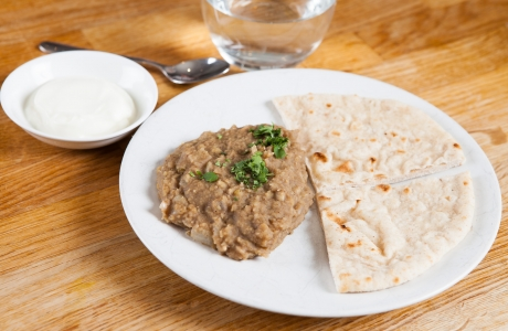 Dhal and chapattis